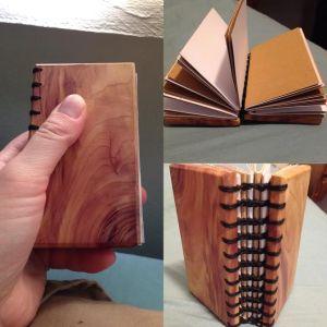 hand-bound cedar journal