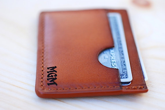 personalized leather wallet valentine's day gift for him