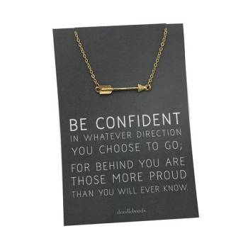 Arrow Necklace with Inspirational Quote - Graduation Gift for Her
