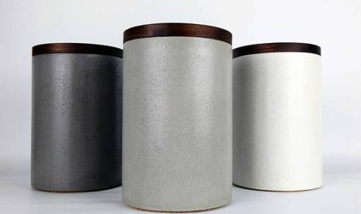 Handmade Concrete Canisters for Modern Kitchen Storage