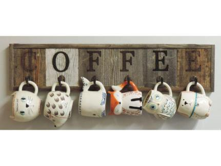 coffee Sign and Mug Holder