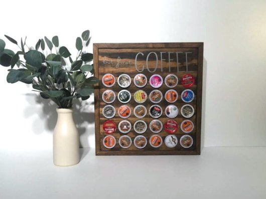 wooden Coffee Pod Storage