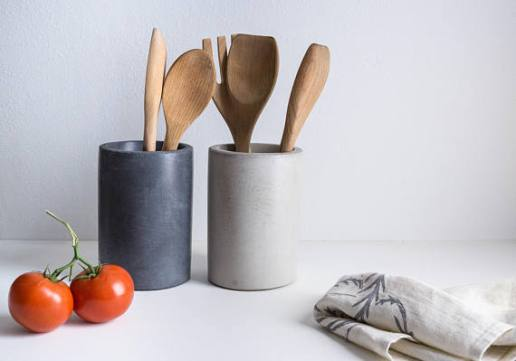 Concrete Utensil Holder - Minimal Style Kitchen