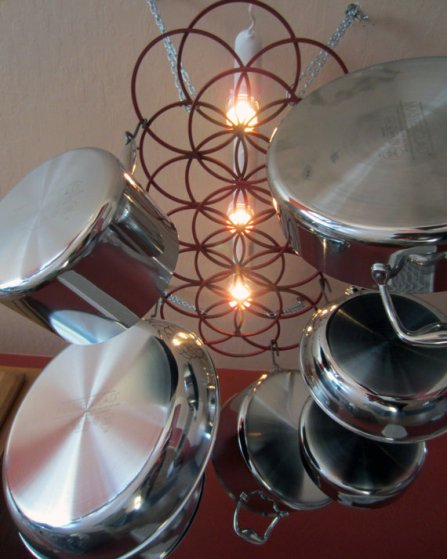 Sacred Geometry Pot Hanger Kitchen Storage