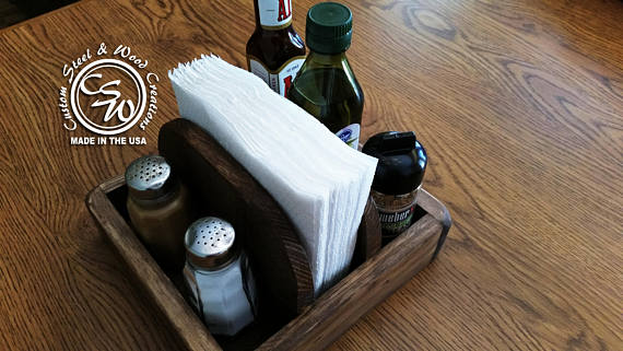 Napkin and Spice Holder - Kitchen Table Caddy