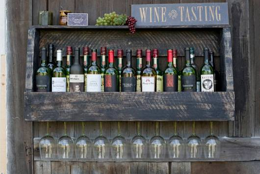 Rustic Wine Storage Rack