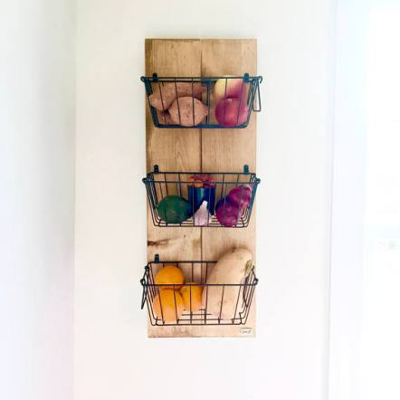 wire basket organizer - rustic vegetable basket